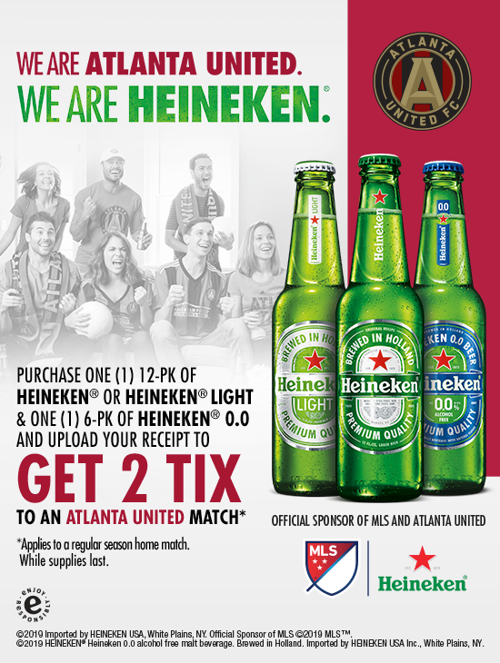 Georgia Residents Get Two Tickets To An Atlanta United Match With Heineken Purchase At Publix