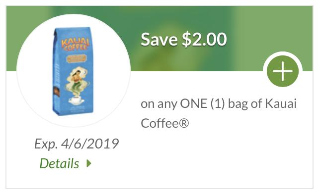 Kauai Coffee coupon