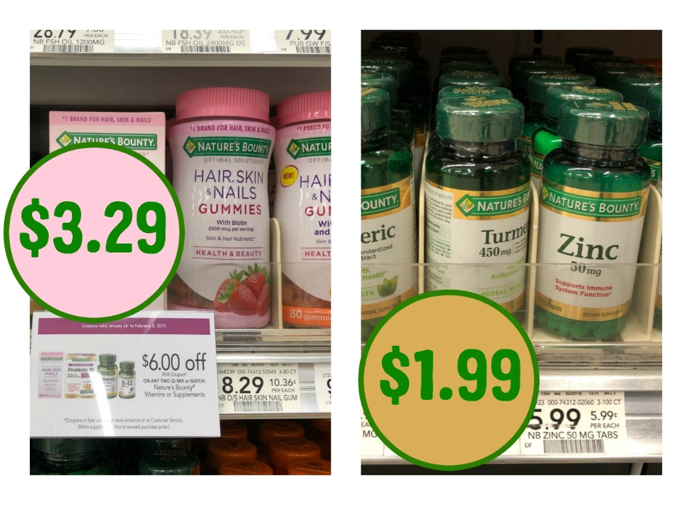 graphic relating to Nature's Bounty Printable Coupon called Vitamin Specials At Publix - Help save Upon Natures Bounty And Mother nature