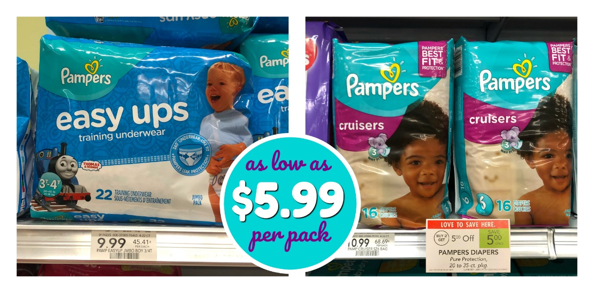 Pampers Diapers & Easy Ups As Low As $5.99 Per Pack At Publix
