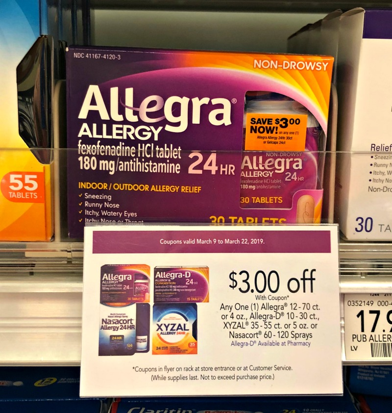 picture relating to Allegra Printable Coupon identified as allegra coupon, I Centre Publix