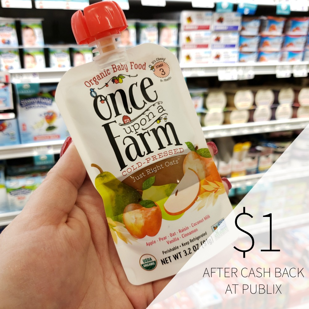Once Upon A Farm Baby Food As Low As $1 At Publix