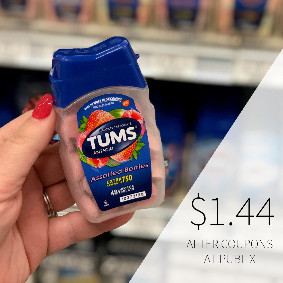 graphic relating to Tums Coupon Printable identify Perfect Bundle Upon Tums Antacid At Publix - Bottles As Minimal As $1.44