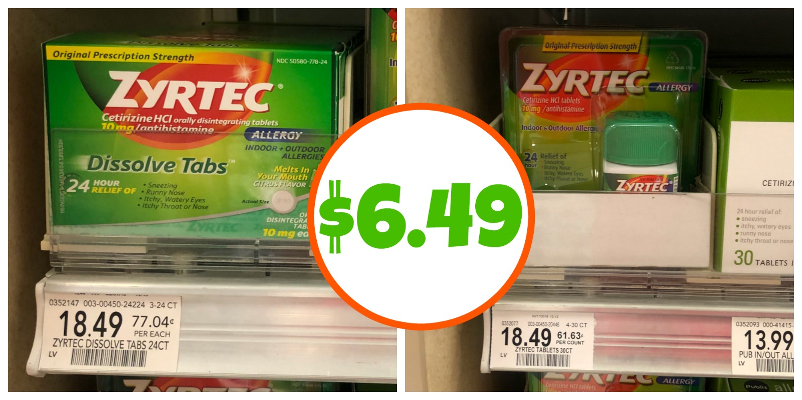 image about Zyrtec Coupon Printable referred to as Clean Zyrtec Discount coupons For The Future Publix Sale - Conserve $12