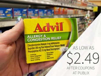 Advil Allergy Congestion Relief As Low As $2.49 At Publix