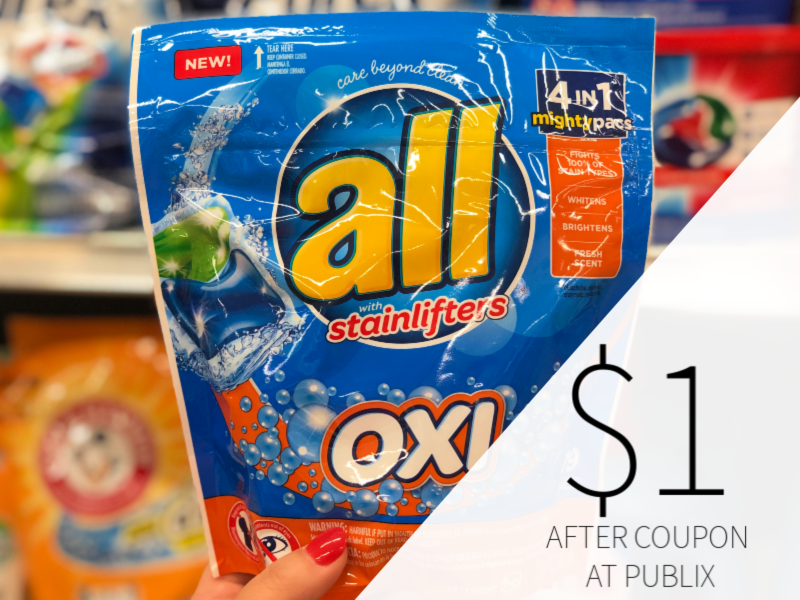All Laundry Detergent Pacs Only $1 At Publix on I Heart Publix