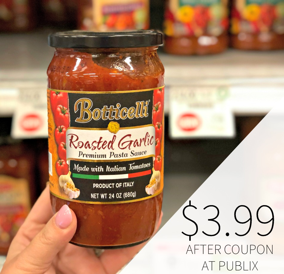 High Value Botticelli Coupon - Cheap Pasta Sauce Or Olive Oil At Publix