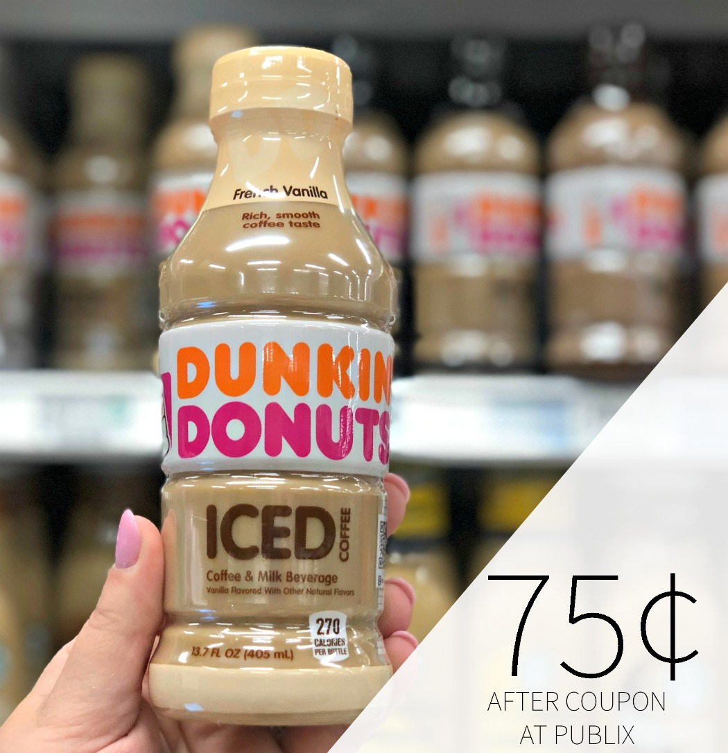 Dunkin' Donuts Iced Coffee + Milk Beverage Only 75¢ At Publix