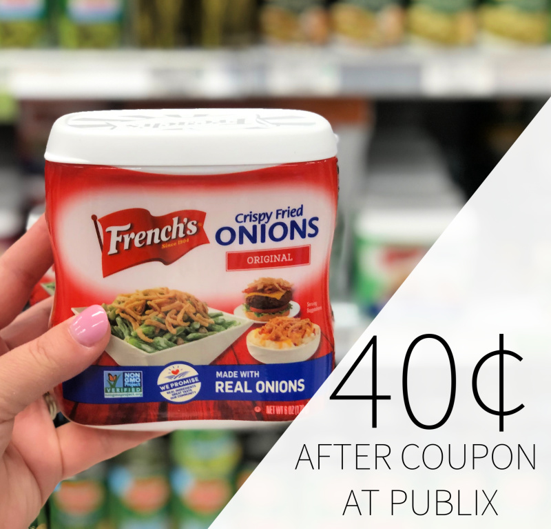 French's Crispy Fried Onions As Low As 40¢ At Publix