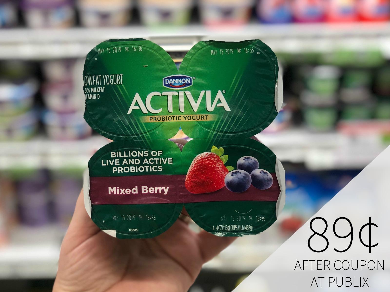 Dannon Activia Yogurt Only 89¢ At Publix