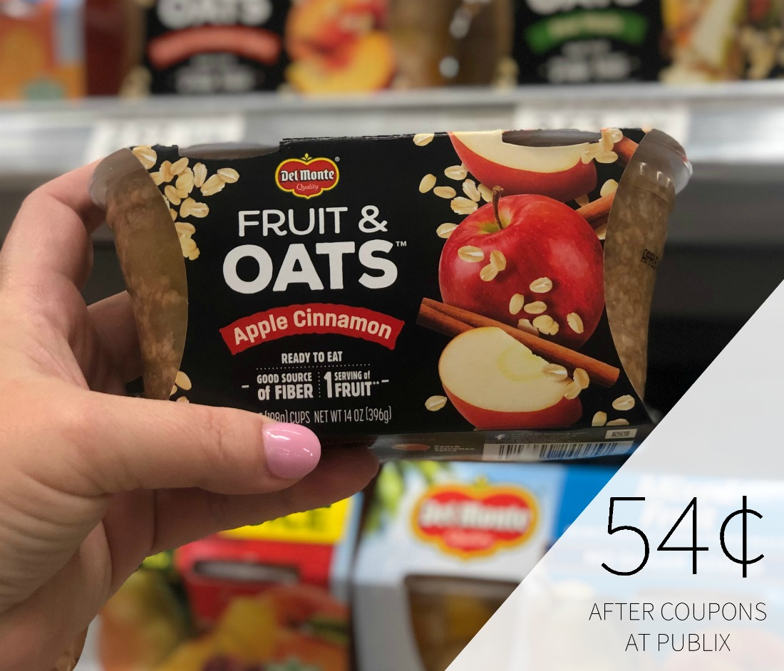 Del Monte Fruit Refreshers, Fruit & Chia, or Fruit & Oats Just 54¢ At Publix