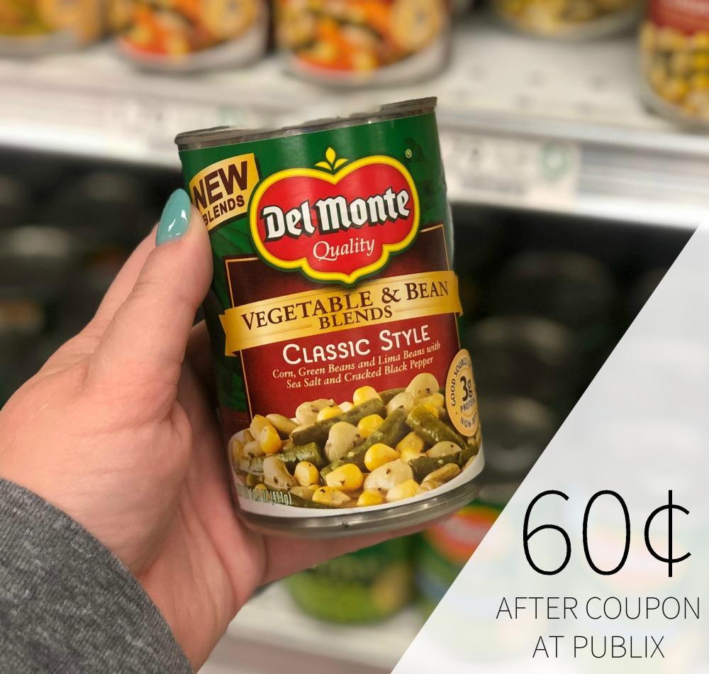 Del Monte Vegetable & Bean Blends Just 60¢ At Publix 1