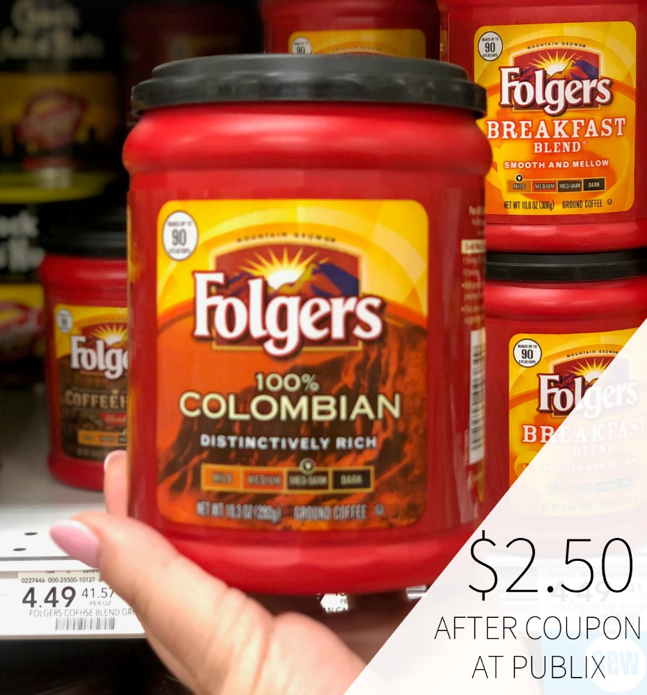 Folgers Coffee Just $2.50 At Publix 1