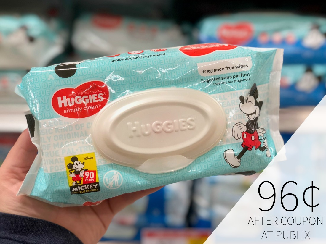 Huggies Wipes Only 96¢ Per Pack At Publix