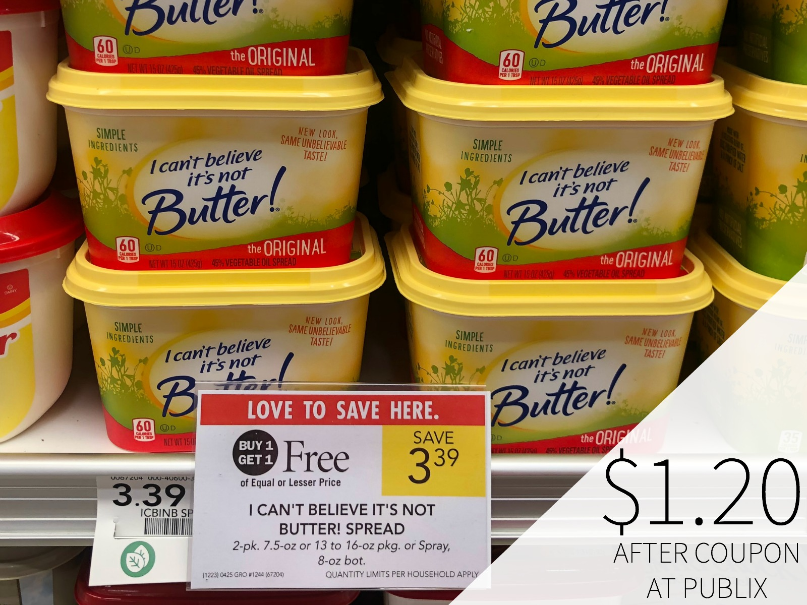 Get I Can't Believe It's Not Butter!® As Low As $1.20 This Week At Publix on I Heart Publix
