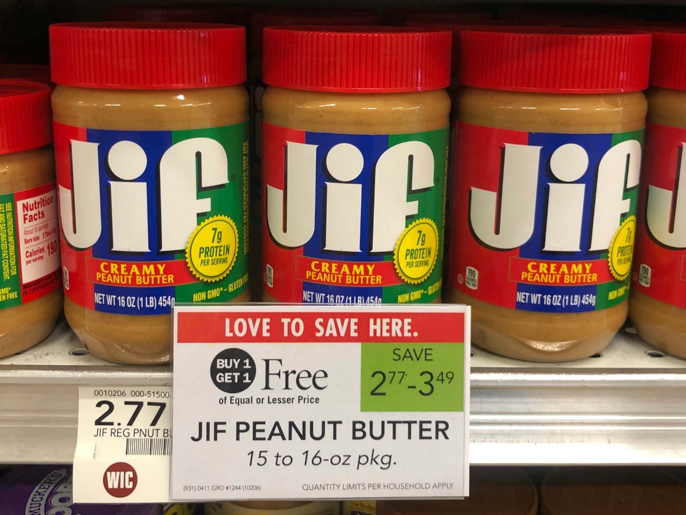 Jif Peanut Butter Only 39¢ At Publix