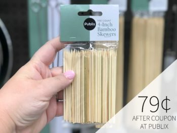 New Digital Coupon For Publix Bamboo Skewers - As Low As 79¢