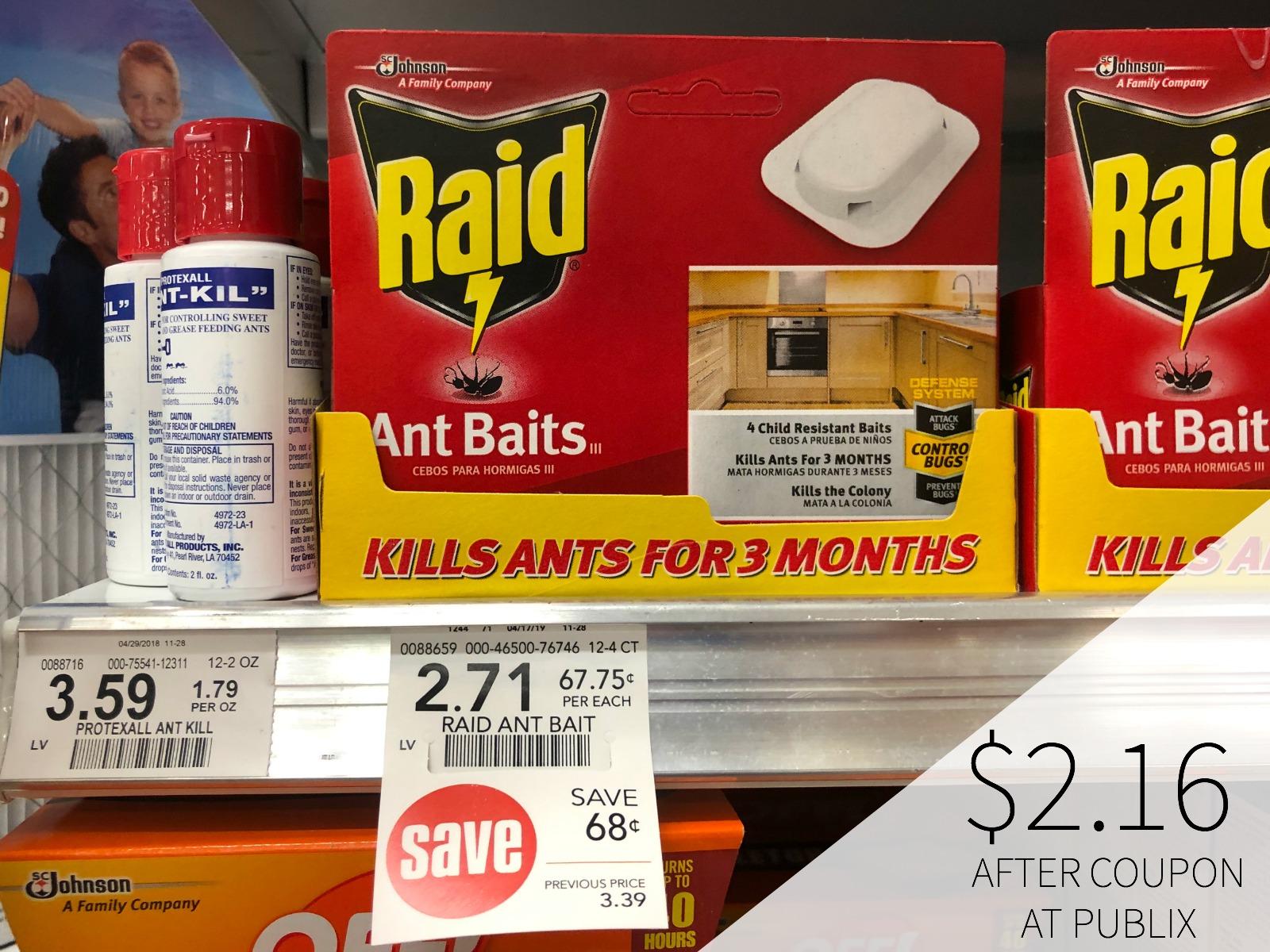 Raid Coupons For Publix Sale - Ant Baits Just $2.16 on I Heart Publix