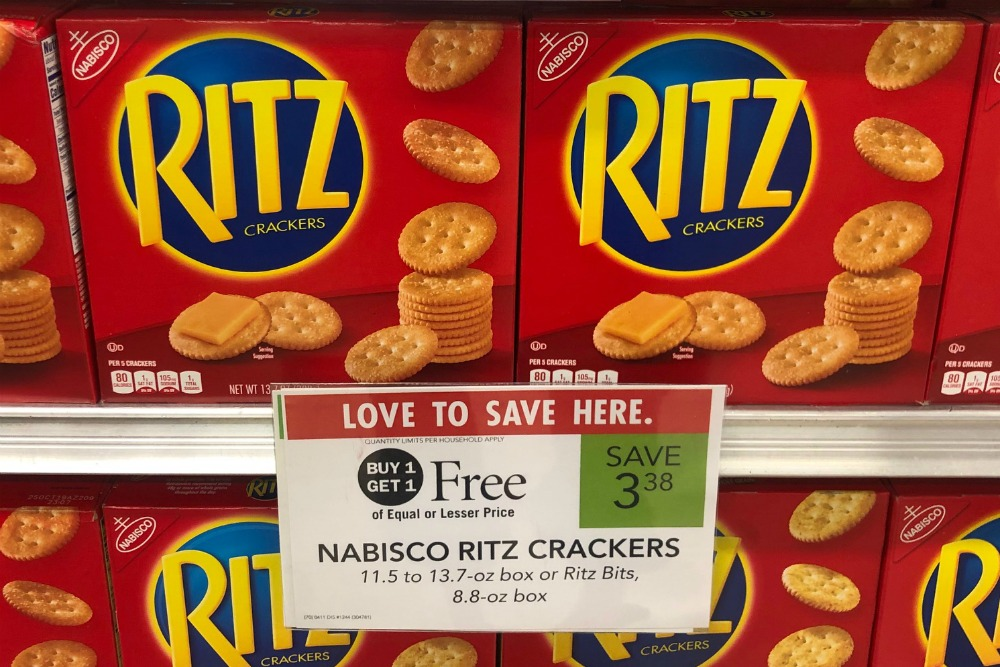 Nabisco Ritz Crackers As Low As 69 At Publix: Nabisco Ritz Crackers Only 94¢ At Publix