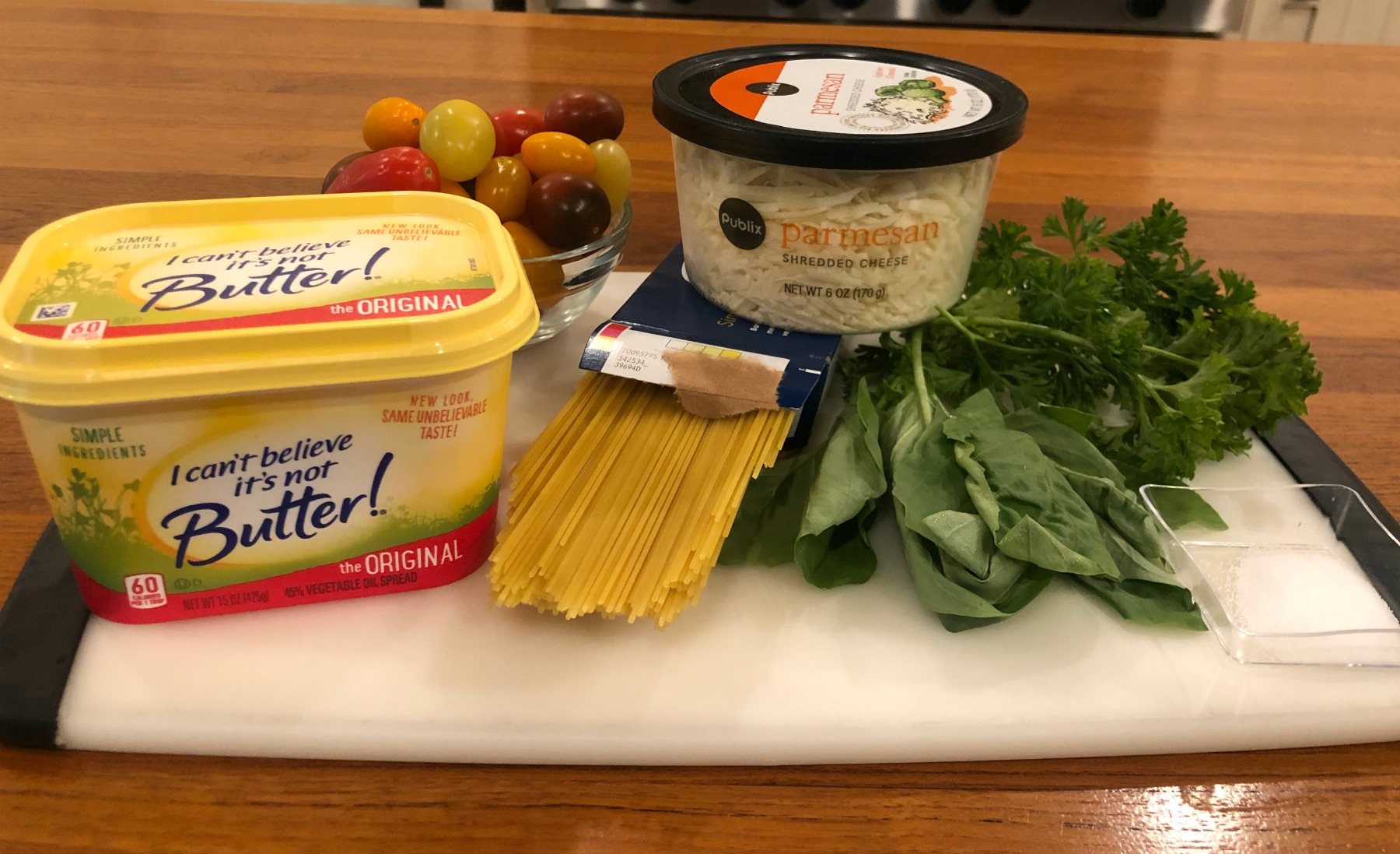 Spaghetti With Tomatoes & Fresh Herb - Tasty Recipe For The I Can't Believe it's Not Butter! BOGO Sale