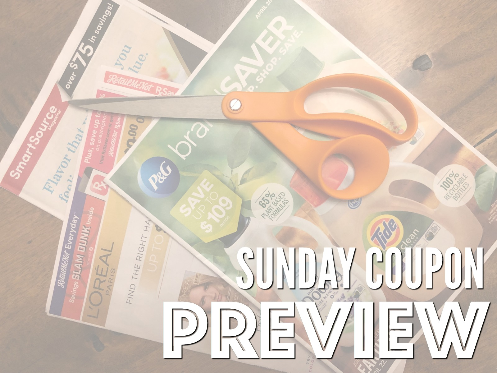 Sunday Coupon Preview For 5/5 - Three Inserts on I Heart Publix
