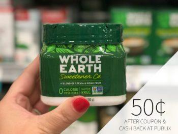 Whole Earth Stevia Leaf & Monk Fruit Sweetner Jar Just 50¢ At Publix (Save $5.99!)