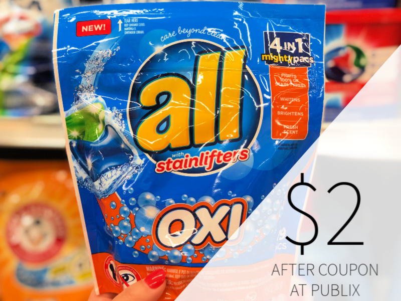 New All Detergent Coupon - Pacs Only $2 At Publix In Upcoming Ad on I Heart Publix 1