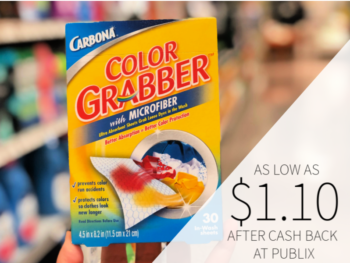 Carbona In-Wash Sheets Color Grabber As Low As $1.10 At Publix on I Heart Publix