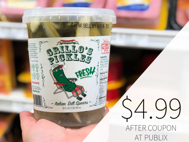 Grillo's Pickles Dill Spears Only $4.99 At Publix on I Heart Publix 1