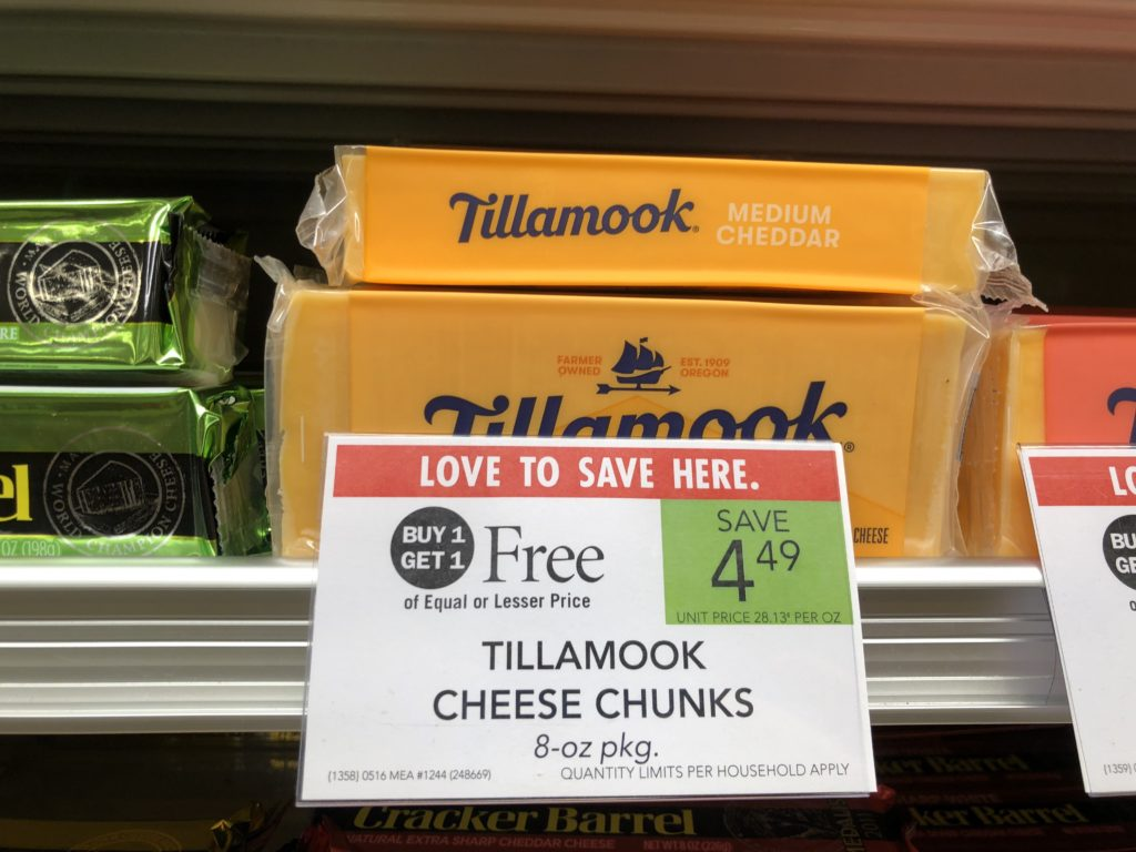 Tillamook Cheese Chunks Only $ on I Heart Publix 1