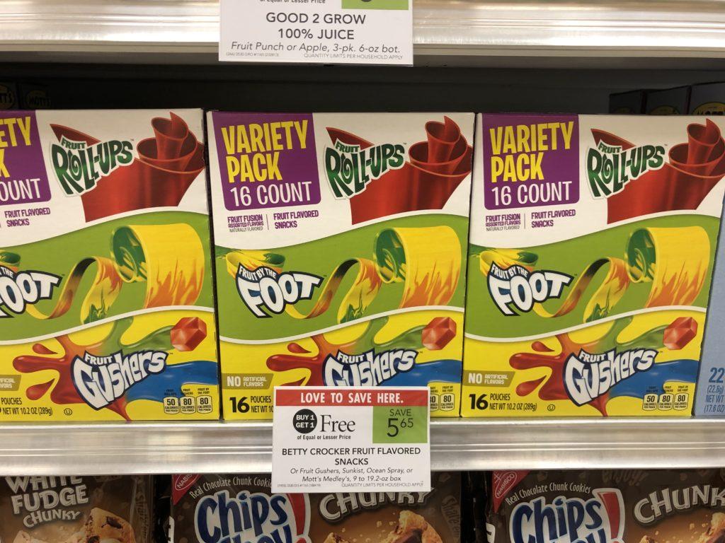 Betty Crocker Fruit Snacks Only $2.56 At Publix on I Heart Publix