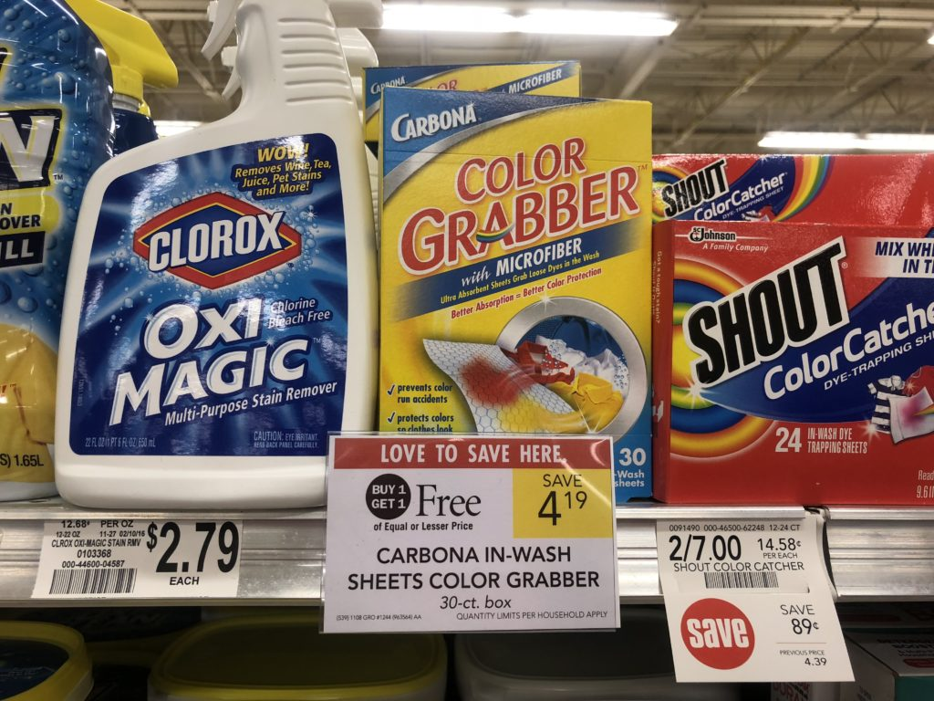 Carbona In-Wash Sheets Color Grabber As Low As $1.10 At Publix on I Heart Publix 1