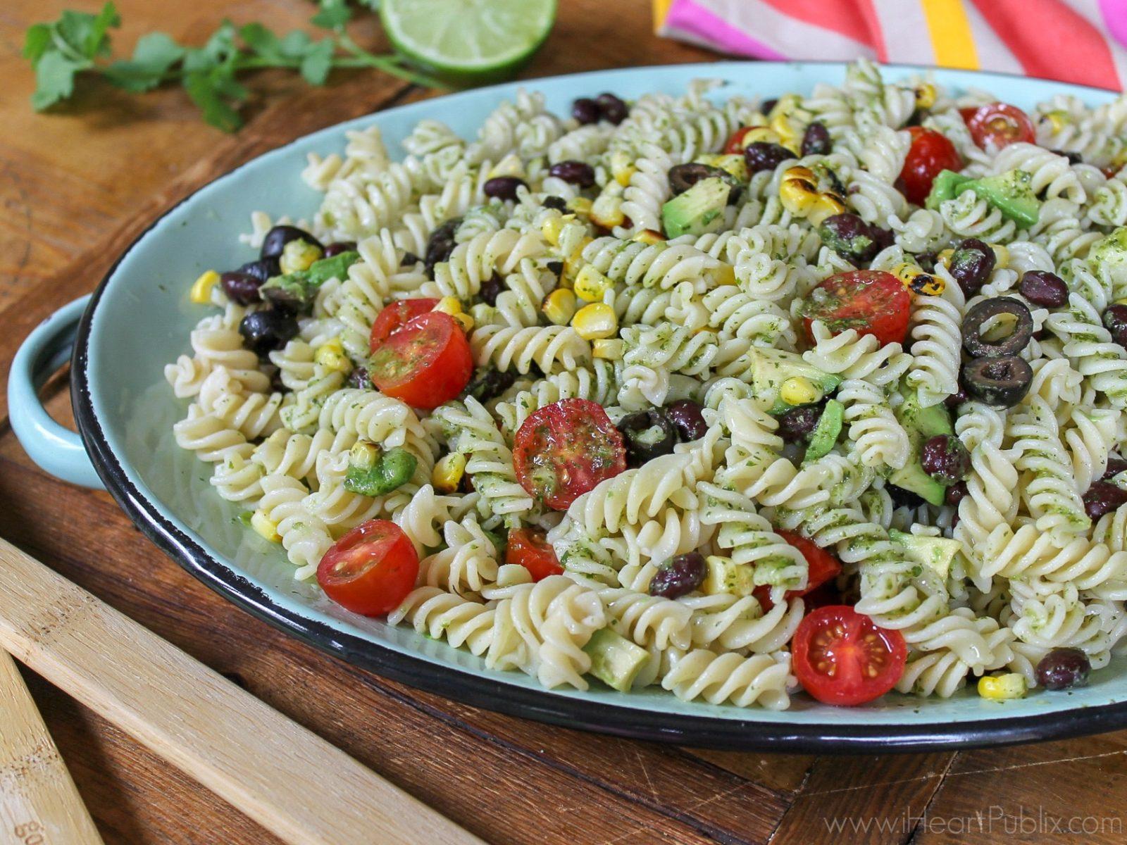 Gluten Free Lime Cilantro Southwestern Pasta Salad on I Heart Publix