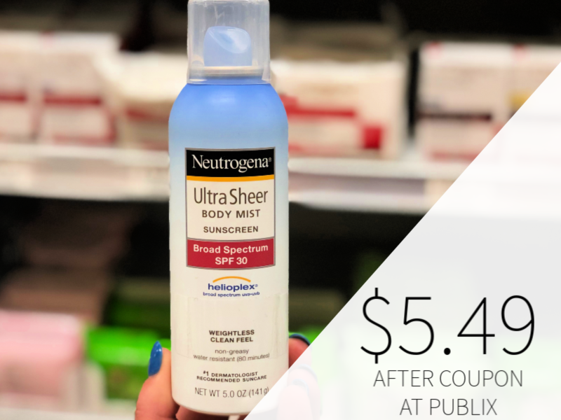 Neutrogena Products Only $5.49 At Publix on I Heart Publix