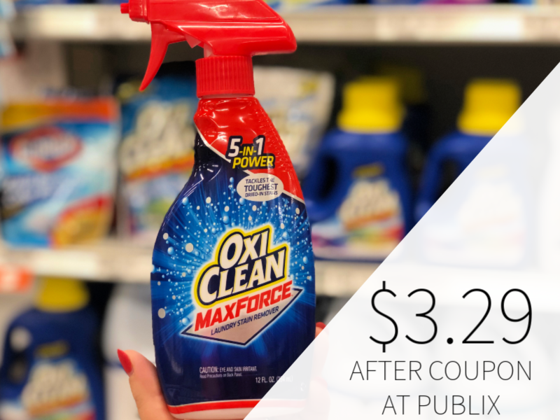 New Oxiclean Coupons Maxforce Laundry Stain Remover Only