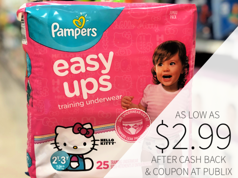 Pampers Easy Ups Training Underwear As Low As $2.99 At Publix on I Heart Publix 1
