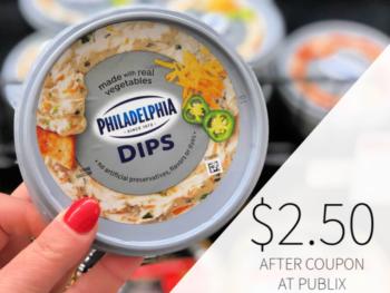 Philadelphia Dips Only $2.50 At Publix on I Heart Publix 1