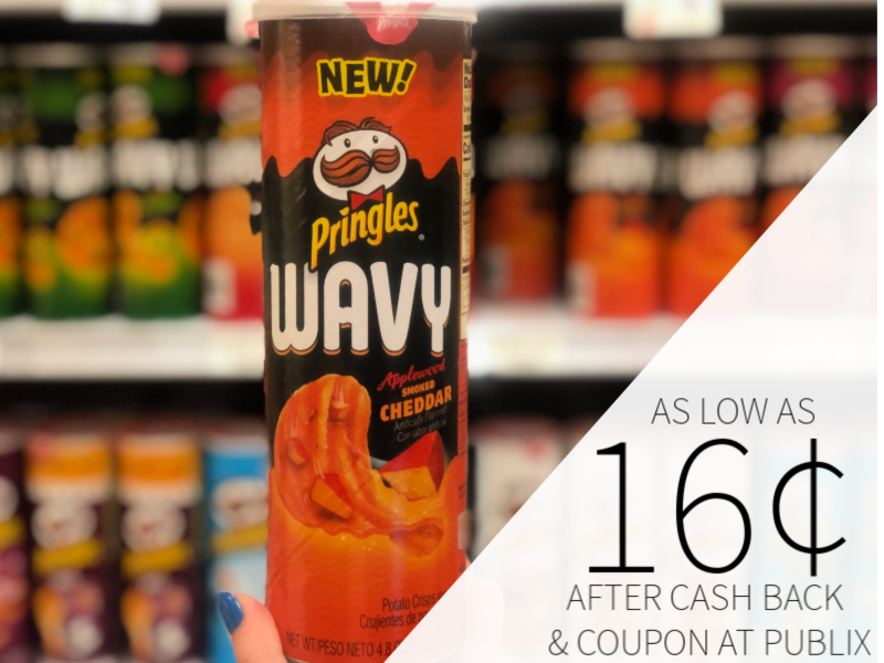Pringles Wavy As Low As 16¢ At Publix on I Heart Publix