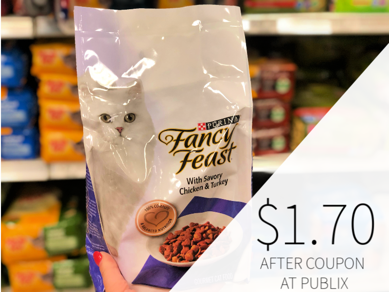 photograph relating to Fancy Feast Printable Coupons named Purina Extravagant Feast Gourmand Dry Cat Foodstuff Simply $1.70 At Publix