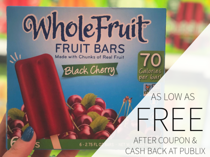 WholeFruit Fruit Bars As Low As FREE At Publix on I Heart Publix