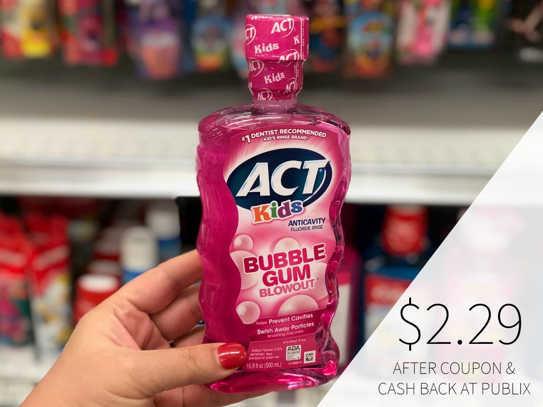 Act Kids Rinse & Act Adult Mouthwash As Low As $2.29 At Publix on I Heart Publix