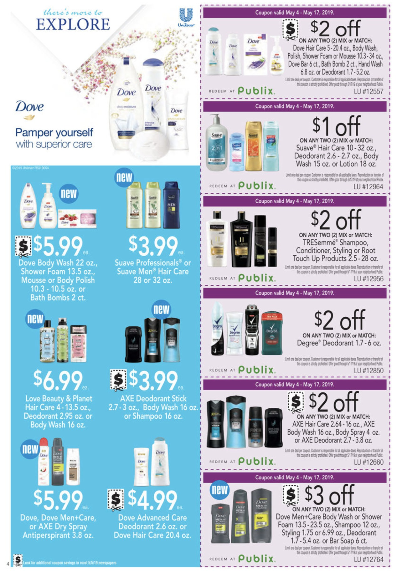 $2 off dove body wash coupon