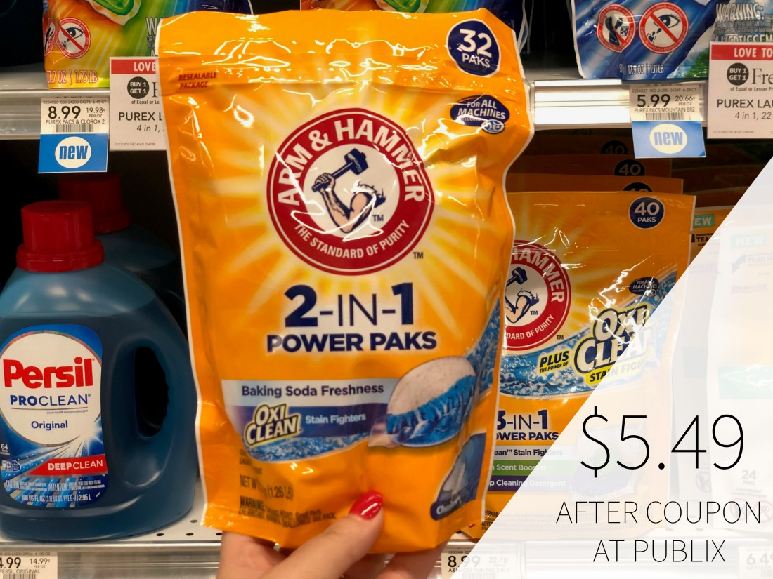 New Arm & Hammer Detergent Coupons To Print on I Heart Publix 1