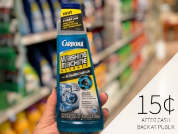 Carbona Washing Machine Cleaner As Low As 65¢ At Publix on I Heart Publix 2
