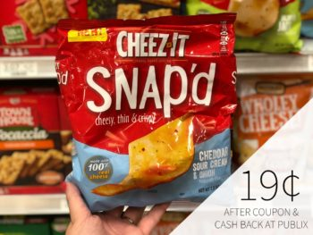 Cheez-It Snap'd As  Low As 19¢ At Publix on I Heart Publix 1