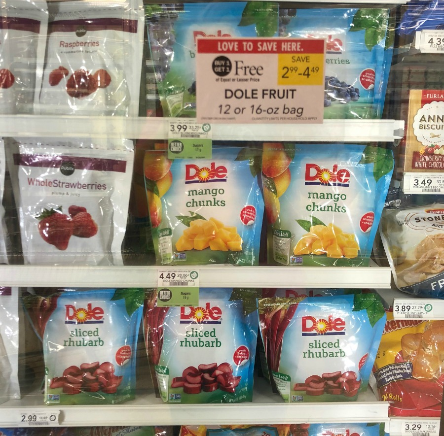 Super Deals On Dole Frozen Fruit - Bags Of Pineapple Chunks Only 80¢ At Publix on I Heart Publix