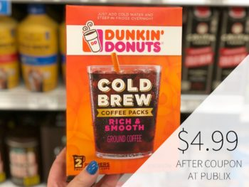 Dunkin Cold Brew Coffee Packs on I Heart Publix 1