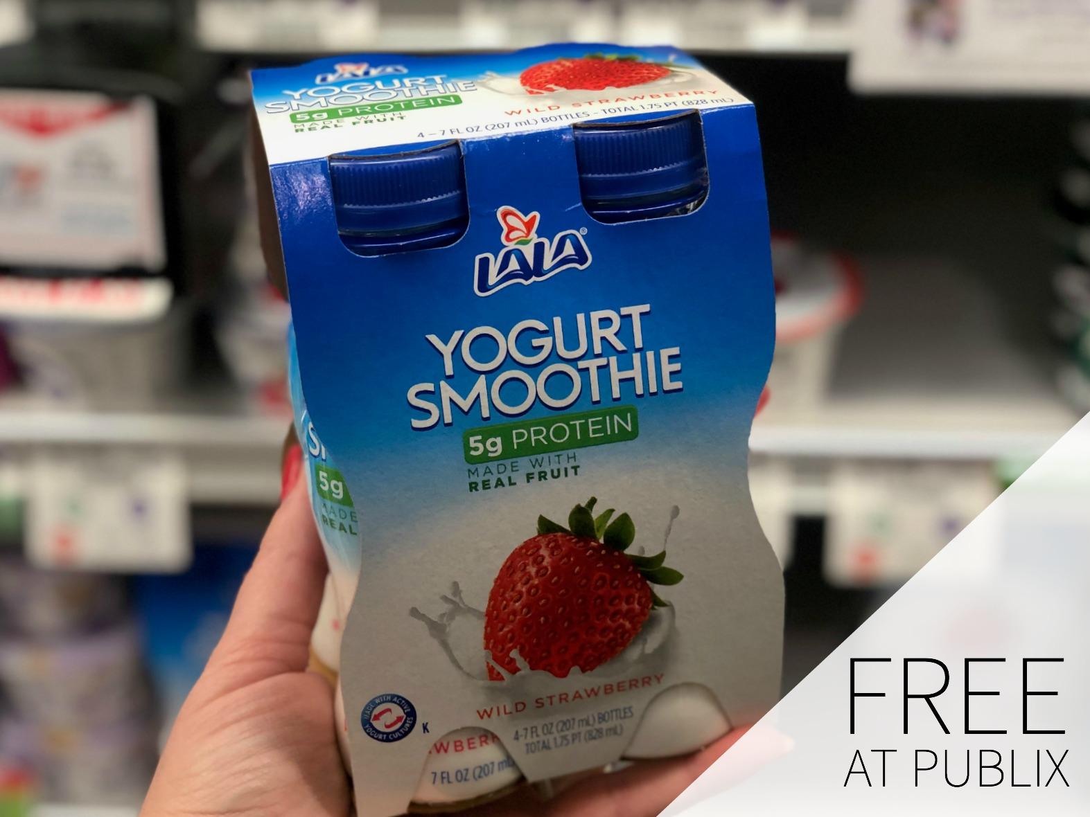 FREE LALA Yogurt Smoothie 4-Pack At Publix on I Heart Publix