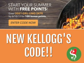 New Kellogg's Family Rewards Code - Add 100 Points To Your Account on I Heart Publix 1