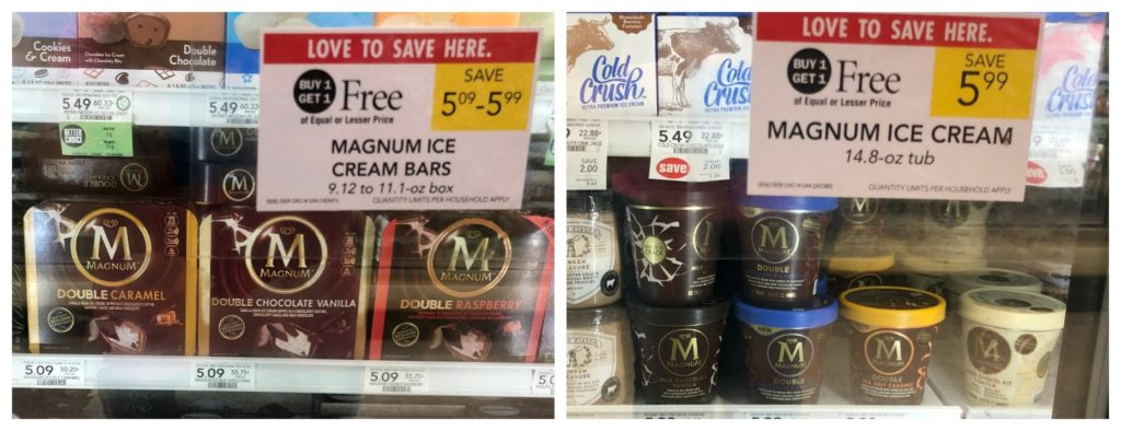 Stock Up On Magnum Bars And Tubs During The Publix BOGO Sale - Treats As Low As $1.75! on I Heart Publix